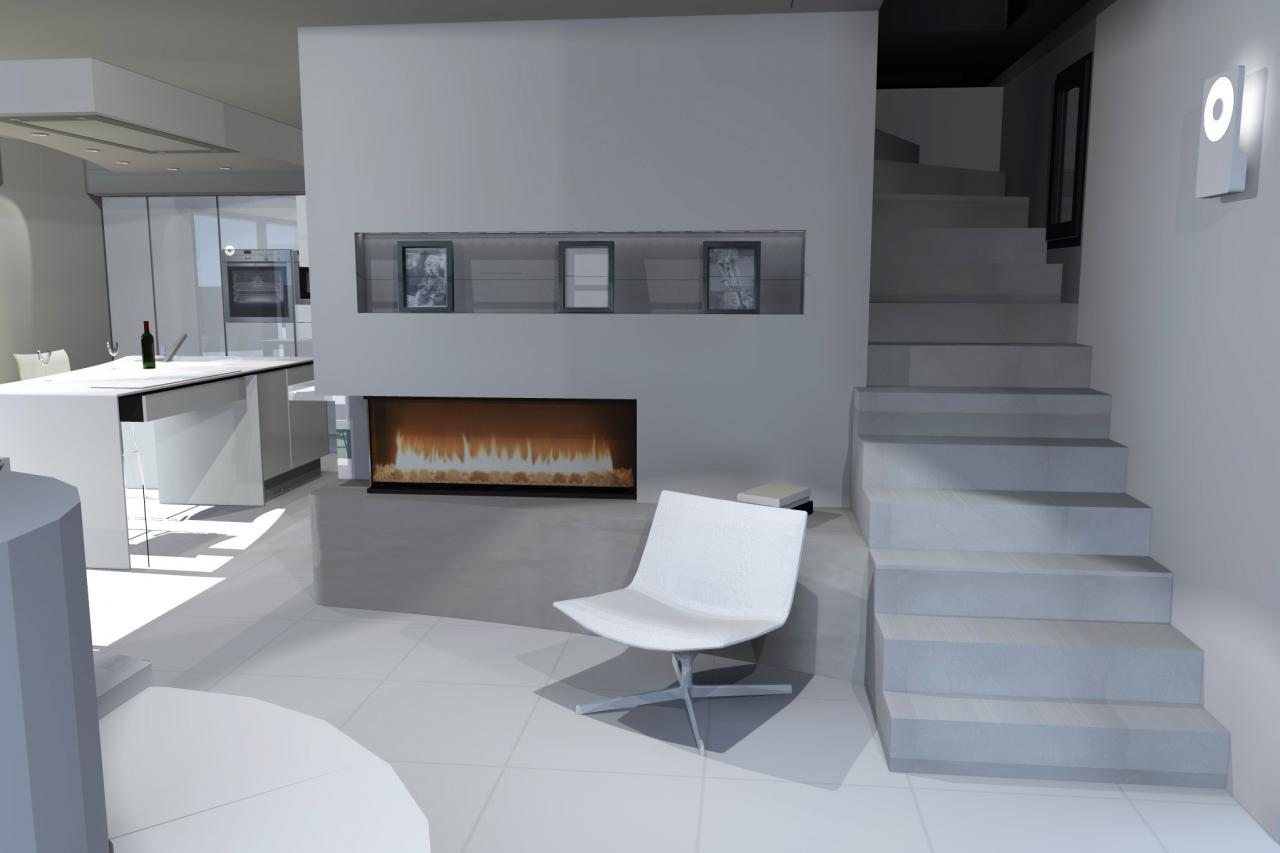 pi ce de vie dans une maison neuve bo home design. Black Bedroom Furniture Sets. Home Design Ideas